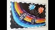Malen Mit Acrylfarben Abstrakt Acryl Blumen