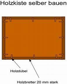 Eine Holzkiste Selber Bauen Anleitung Mit Bauplan
