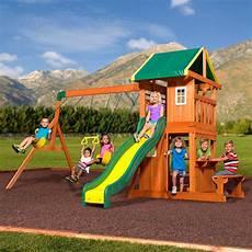 swing sets backyard discovery oakmont cedar wooden swing set