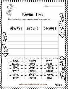 rhyming words activities for 2nd grade 2nd grade sight words rhyming activity by custom core creations tpt