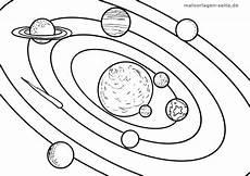 Ausmalbilder Sterne Und Planeten Malvorlage Planeten Umlaufbahn Weltraum Kostenlose