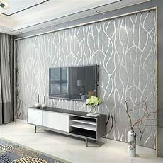 Modern Minimalist Non Woven Wallpaper Living Room Tv