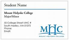 business card template for college students business card template mount holyoke college