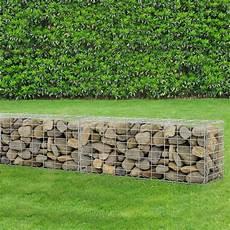 gabion 100x40x30 cm basket wall wire bench ebay