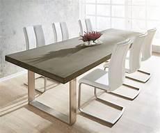 Esszimmertisch Mit Stühlen - esstisch zement 260x100 grau beton optik gestell schmal
