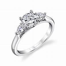 three stone engagement ring s3003