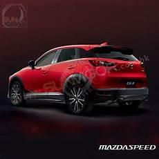 2015 cx 3 dk mazdaspeed rear bumper diffuser spoiler