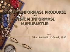 contoh penerapan sistem informasi manufaktur pada