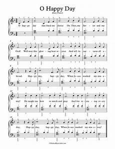 easy piano arrangement sheet music o happy day