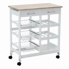 oak kitchen island cart trolley portable rolling storage dining table 2 drawers