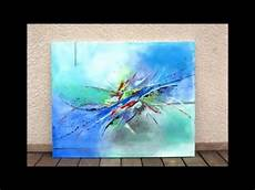 Peinture Abstraite Acrylique Demonstration Vid 233 O Hd