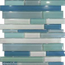 Glass Mosaic Kitchen Backsplash Sle Blue Random Linear Glass Mosaic Tile Kitchen