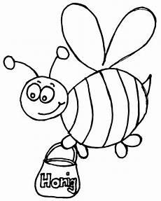 Nadines Malvorlagen Biene Mit Honigtopf Nadines Ausmalbilder