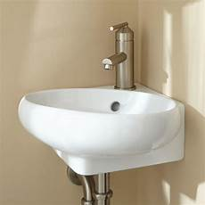 signature hardware isolde corner porcelain wall bathroom sink ebay