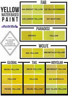 color charts to help you choose the shade