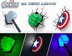 marvel avengers 3d wall light for children s room dormitorio de los vengadores decoracion