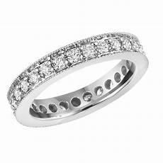 1 15 ct ladies round cut diamond eternity wedding band ring