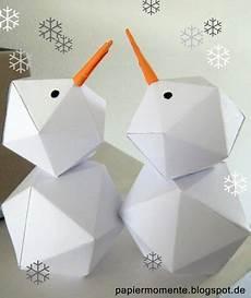 Schneemann Schneefrau Aus Papier Ich Bastel Sehr Gerne