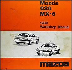vehicle repair manual 1989 mazda mx 6 security system 1989 mazda 626 mx 6 repair shop manual original