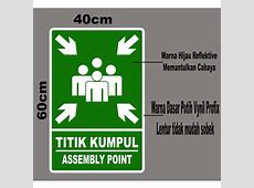 Jual Stiker Logo Titik Kumpul Assembly Point di lapak