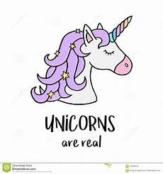 Unicorn Malvorlagen Xl Unicorns Are Real Unicorns With Rainbow Horn Stock
