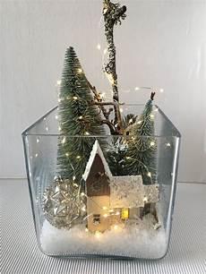 weihnachtliche deko im glas glas winterlandschaft beleuchtet xl weihnachten