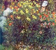 Girls In The Garden 1875  Claude Monet WikiArtorg