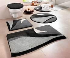 badezimmerteppich set 1 st badematte 70 x 110 grau schwarz badteppich matte