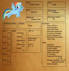 play dnd in equestria with these my little pony character