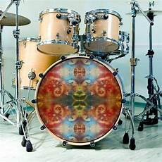 drum skin for bass snare and tom drums circus flips abstract art for customizing drum heads