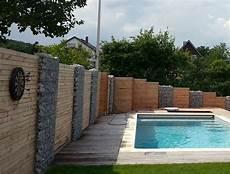 bau eines vorgartens mit neuer terasse pool und