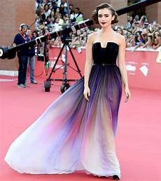 violet vision lily collins dreamy gown will perk up your dreary monday lily collins lilies