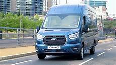 ford transit 2019 2019 ford transit stratosphere blue driving
