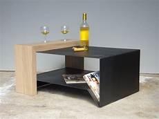 table basse contemporaine acier et bois mobi050