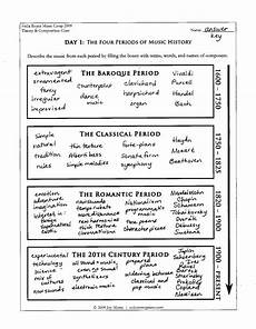 music history worksheets printables color in my piano