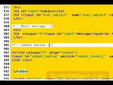 send emails with a javascript php web form with form validation download the code youtube