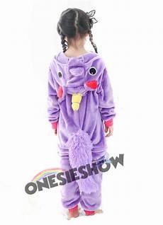 purple unicorn onesie kigurumi pajamas animal