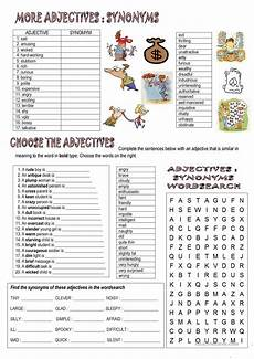 synonyms and opposites english esl worksheets