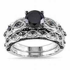 cheap black diamond wedding ring sets for wedding