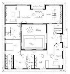 atrium bungalow grundrisse floor plan friday u shaped 5 bedroom family home