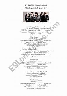 house of the scorpion lesson plans we built this house scorpions esl worksheet by uliasha