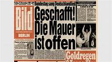 bild zeitung berlin die titelseiten zum mauerfall politik bild de