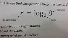 wie rechnet mit den logarithmus mathe mathematik log