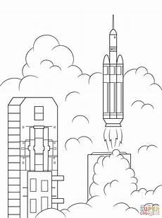 ausmalbild die schwere rakete delta 4 bringt die