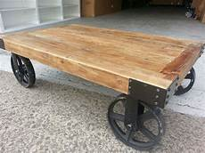 industrial coffee tables with wheels new industrial recycled vintage rustic timber coffee table