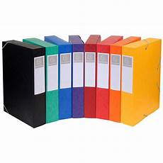 Exacompta Boites De Classement Cartobox Dos 50 Mm Assortis
