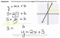 finding equation of a line given slope and one point worksheet tessshebaylo