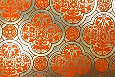 Orange And Gold Wallpaper by 1970 S Vintage Wallpaper Gold Foil Background With Orange