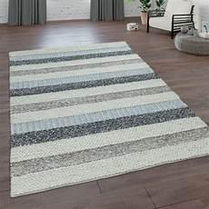 teppich natur teppich handgeflochten natur wolle streifen teppich de