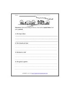 parts of sentences worksheets